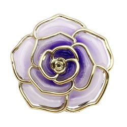 Le pliage SAC SAC SAC Crochet Hanger table Hang titulaire de la forme de fleur rose