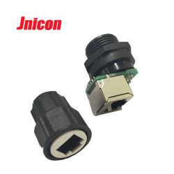 Jnicon Cat5e Cat6e Cat7e 옥외 IP68는 RJ45 연결관을 방수 처리한다