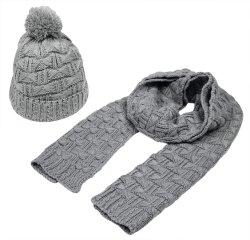 Акрил зимний теплый Beanie трикотажные Skull Red Hat и шарфом,