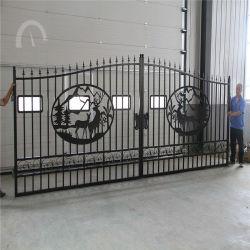 China Levering Amerikaanse 16FT Ornamental Metal smeedijzer poorten Herten
