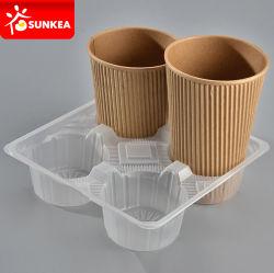 PP desechables de plástico papel titular de la taza de café