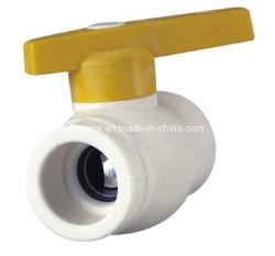 Clapet à bille de PPR avec noyau de fer de l'eau chaude et froide les raccords du tuyau de pression d'alimentation DIN 8078/8077 (R34)