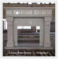 Commerce de gros de Pierres de Jade Blanc/Noir cheminée en marbre pour la décoration de la chambre