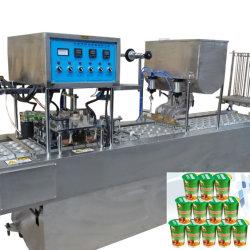 Automatische Plastic het Vullen van de Kop van de Yoghurt van het Mineraalwater het Afdekken Verzegelende Machine