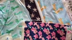 Single Jersey/ 100% tecido de algodão colorido/ reactivos e tecido impresso com pigmento/ Pano de tricotar