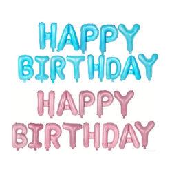 С Днем Рождения фольгированные шары закрывается золотой алфавит круглая насадка для детей с днем рождения партии украшения