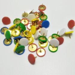 플라스틱 둥근 본사 Thumbtacks에 의하여 분류되는 색깔 제도용 핀