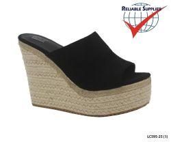 Plate-forme du talon du coin de la Femme Sandales Chaussures occasionnel Strappy transversal