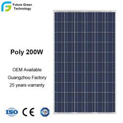 지하실 프로젝트 200W용 폴리 결정질 실리콘 태양열 모듈 36V