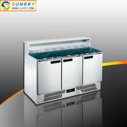 Gn 팬을%s 가진 냉장된 샐러드 Prep 테이블을 냉각하는 상업적인 공전