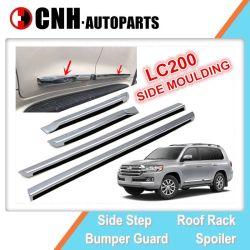 Acessório de auto peças de automóvel friso de porta lateral cromado para Land Cruiser 200 2016 2018 LC200