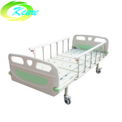 Pliage Portable médicale 2-MANIVELLES Hôpital Manuel lit avec tête ABS Conseil