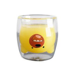 [250مل] عالة يشرب حرارة - مقاومة مزدوجة جدار قهوة زجاج فنجان