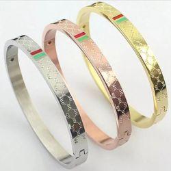 Elegante neue Entwurfs-Schmucksache-Paar-einfache gravierte kundenspezifische Form-geöffnete Stulpe-Armband-Armbänder