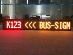 Einzelne Zeile Doppel-Farbe LED Bus-Weg-Zeichen