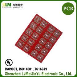 Material Fr4 Rogers Óleo Vermelho PCB dupla face