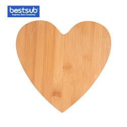 Gravura Bestsub em forma de coração Bambu Board (22*21,5*0.9cm)