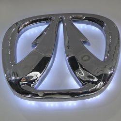 La coutume de la galvanoplastie Chrome logo voiture ABS acrylique
