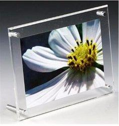 Mesa de acrílico transparente autoportante magnético da Estrutura da Cabine de bloco de fotos com separadores