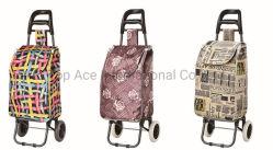 Deux roues en aluminium pliable Portable Shopping sac chariot à bagages