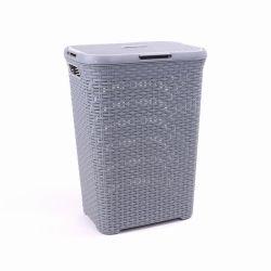 70 litres en plastique Rattique Panier à linge entraver avec couvercle