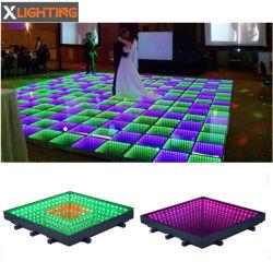 RGB LEIDEN van het Glas van het Stadium van de Verlichting van DJ Magische 3D Dance Floor voor het Huwelijk van de Partij