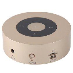 Conception élégante en métal coloré Super son de basse Portable Mini haut-parleurs sans fil ronde avec logement de carte de TF, 8 heures le temps de jeu, travaille pour l'iPhone, iPad, PC, de téléphone cellulaire