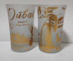 Shot Recuerdos de cristal personalizado regalo promocional turístico OEM ODM muchas formas para la elección de impresión por sublimación de la escarcha y la playa de clara