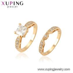 方法新しいデザイン贅沢な水晶花嫁党金カラー円形の魅力の結婚式の宝石類のリング