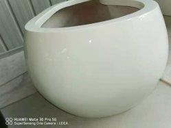 FRP China handmade White Flower Fiberglass Vase for Mall Decoration