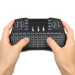 Più I8 del mouse dell'aria della tastiera mini con il mouse Backlit bianco dell'aria