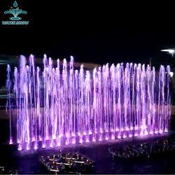 L'extérieur LED colorés décoratifs danse musicale en terrain sec Fontaine à eau