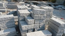 Натуральный камень серый G603 гранитной стене камень для ландшафтного сада
