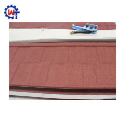 Commerce de gros de matériaux de construction en acier recouvert de feuille de toiture Stone tuile de toit