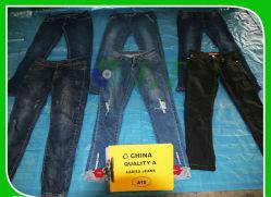 Mode Frauen Freizeitbekleidung Gebrauchte Kleidung Bleistift Denim Jeans Stretch Slim Fitness Hosen gute Qualität Second-Hand Hosen Verkauf in Ballen