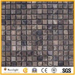 Простая форма полированным/Мэтт Эмперадор темной мраморной мозаикой из камня мозаика