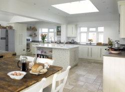 Estilo americano de madeira branca armário de cozinha fechada suave deslizar da dobradiça