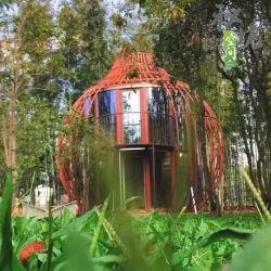 Медицинского обслуживания диаметром 480см Gourd типа с балконом и строительные материалы стали модульная структура мобильный дом сегменте панельного домостроения дома