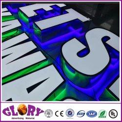 주문 3D 로고 편지 표시 상점 표시를 위한 아크릴 LED 채널 편지