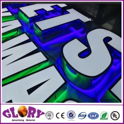 Custom 3D Sinal do Logotipo do canal de LED de acrílico Carta Assinar