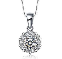 Снежинка Махатиром Циркон карата алмазов в полном объеме Heart-Shaped захваты приспособления установите полую подвесной ожерелье с золотым покрытием