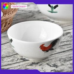 Vintage porcelaine garçon de 5 pouce de bols de poulet à la main de l'autocollant bol de soupe bol à salade en céramique