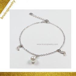 La vente directe en usine 925 Sterling Silver Charm Bracelet avec perle