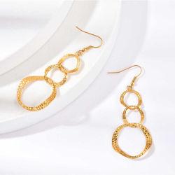 Commerce de gros de haute qualité Accessoires de mode en acier inoxydable plaqué or Bijoux pour femmes's Fashion Earrings