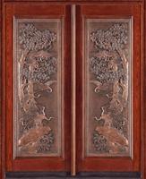 Portello di entrata decorativo di singolo e doppio portello con vetroresina Rame-Rivestita