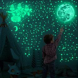Risplendere nelle decorazioni delle pareti delle Oscar Stars Moon Owls