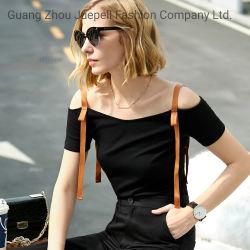 최신 디자인 패션 의류 맞춤형 고품질 쿨 및 정장 여성용 의류 여성용 티셔츠