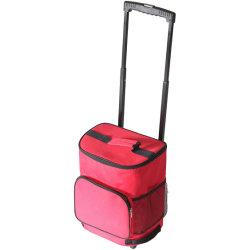Refrigerador ultra compactos Smart Cart aislado de rojo a la rodadura plegable barbacoa de verano de la playa de portón