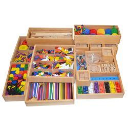 Giocattoli educativi del prodotto materiale sensoriale di legno all'ingrosso di Montessori per i capretti