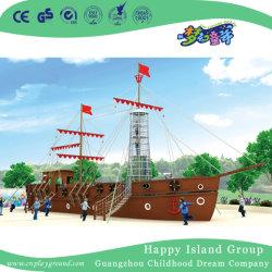 야외에 거대한 어린이 목재용 해적 배 놀이터(HHK-5602)